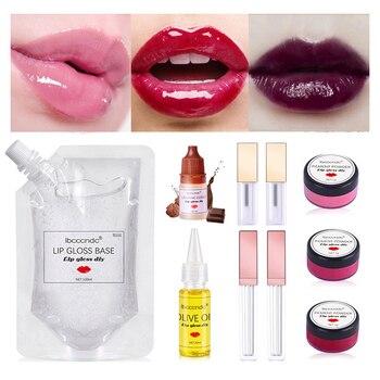 Simple DIY Lip Gloss Base Gel Set Moisturizing Versagel Lipgloss Base Safe Handmade Cosmetic Lasting Lip Gloss Set mac shiny pretty things lip set