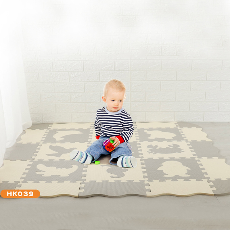 2020 New Puzzle Exercise Play Mats Set Crawling Mat Interlocking Foam Floor Tiles For Baby Toddlers