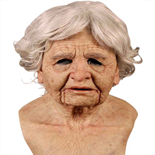 Мама Против Морщин, уход за кожей лица мужчина страшная маска Хэллоуин костюм набор для всей поверхности головы подставки под парик для взр...