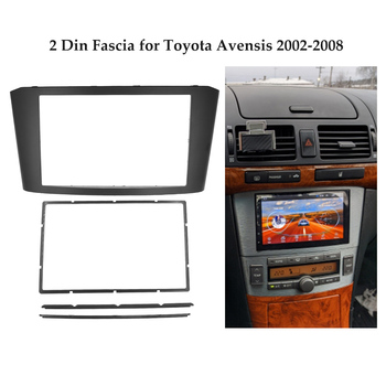 Double Din Car Radio Fascia for Toyota Avensis 2002-2008 DVD Stereo Player Face Plate Panel Installation Trim Frame Bezel Kit image