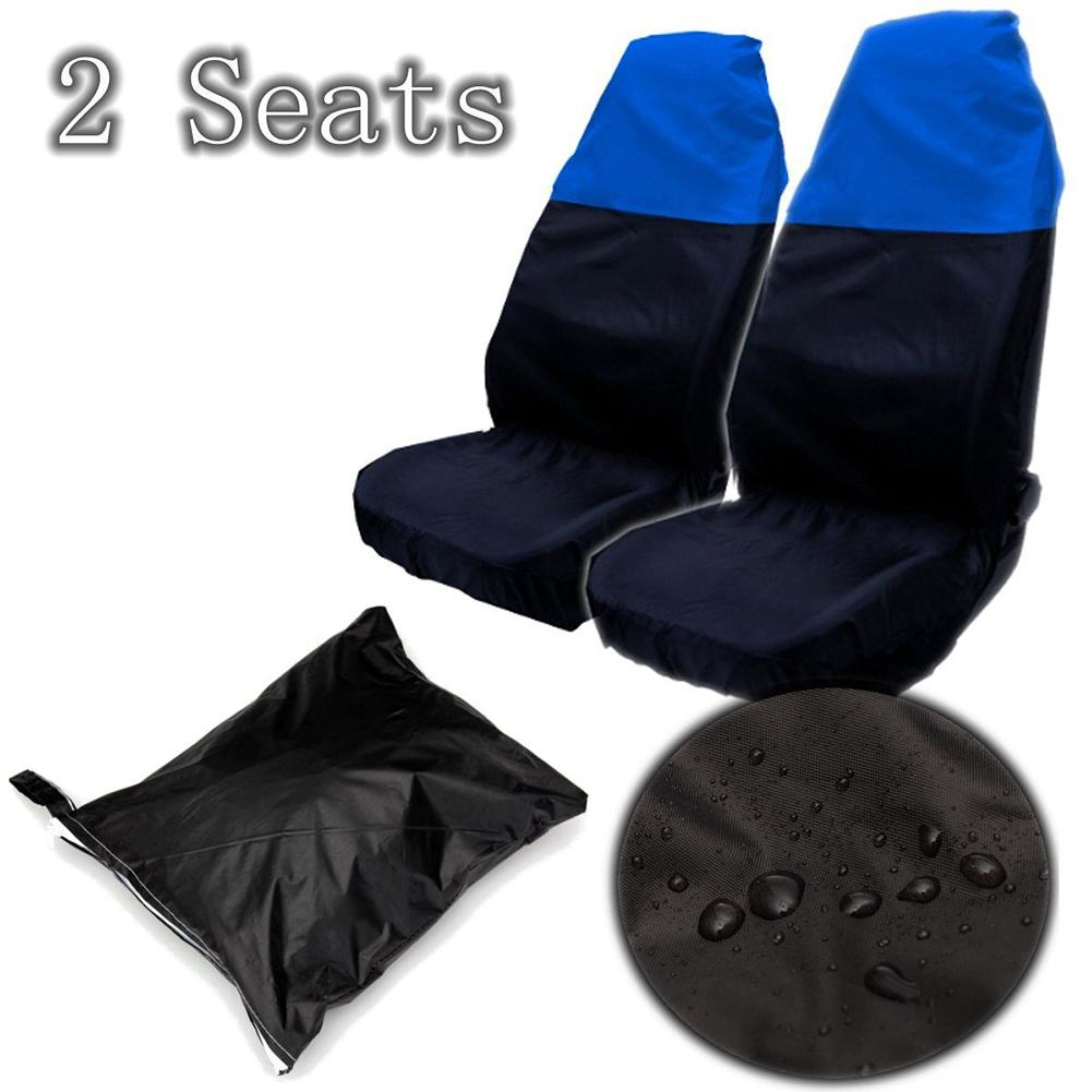 Protectors Seat-Cover VAN Universal 2pcs Waterproof Nonslip Front for Cars Bus Backing-Dust-Proof title=