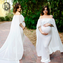купить New 2018 Maternity Maxi Dresses Pregnant Clothes Shiny Belt Maternity Clothes Long Dress For Pregnant Women Photography Props по цене 943.75 рублей