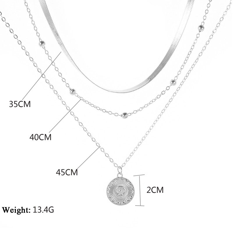 He43aef4b78ee4f09802e31b27378c9b1b Bohemia Multi-Layer Lotus Pendant Necklace for Women