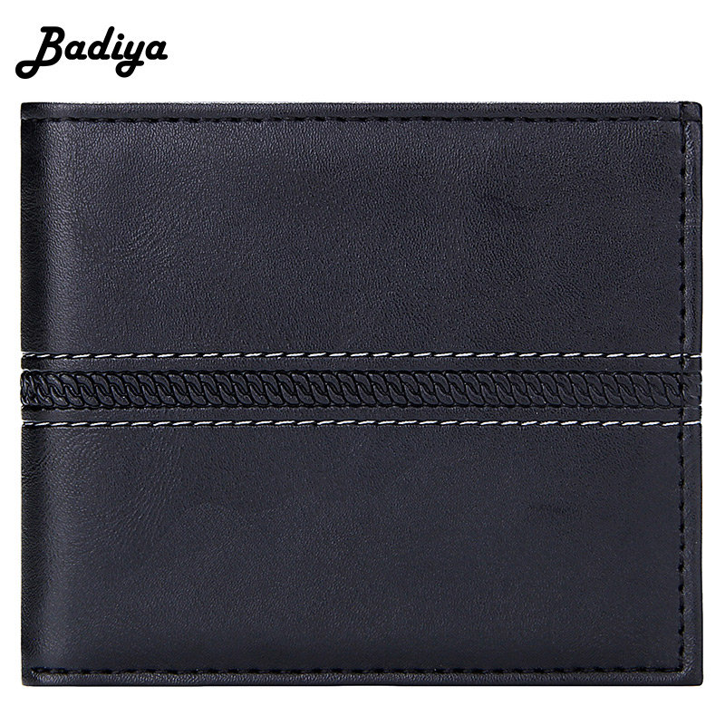 Brief Men Wallet Solid Color Multi-card Slots Credit Card Holder Large Capacity Keychain Clutch Bag Casual Male Short Coin Purse