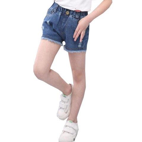 meninas denim shorts 2020 novo verao adolescente shorts criancas grandes meninas denim shorts meninas algodao