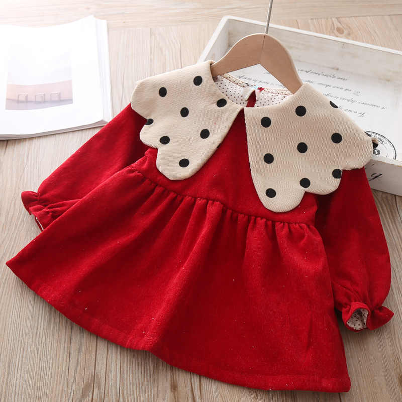 Baby Girls Dress 2019 autumn winter Clothes children Toddler Tops Shirts for girl Kids princess Cotton Christmas Dresses