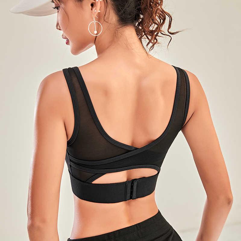 Lusure mulher esporte sutiã superior preto acolchoado yoga sutiã de fitness esportes tanque superior feminino esporte yoga sutiã empurrar para cima sutiã esportivo