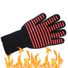 Hot Extreme Heat Resistant Silicone Kitchen Barbecue Oven Glove Cooking BBQ Grill Glove Oven Mitt Baking Glove Kitchen Accessori(China)