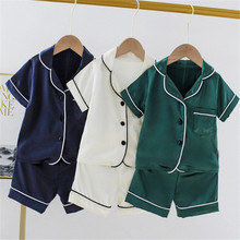 Summer Children Pajama Sets Cute Bear Girls Clothing sets Baby Boys Sleepwear Pajamas Set Kids Sleepwear
