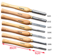 7PCS/SET HSS Woodturning Chisel SET with High Speed Steel Blade