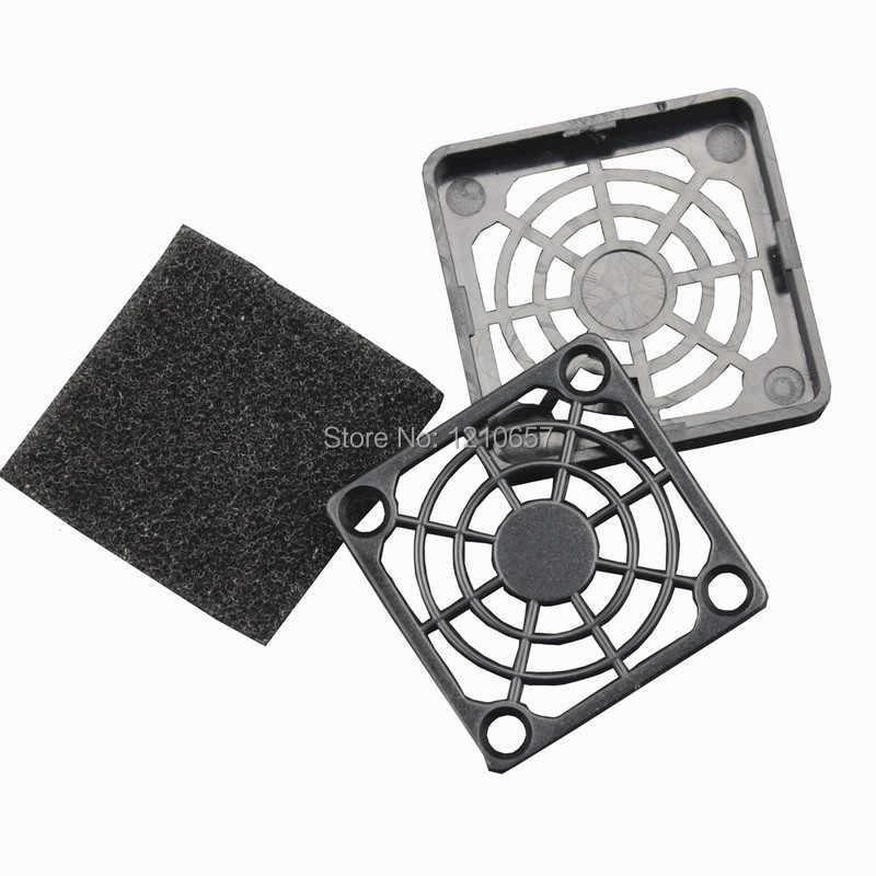 5 個ロットガード黒プラスチック防塵ダスト Filterable 40 ミリメートル PC クーラーコンピュータファンフィルターカバー