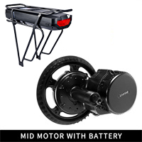 Discount 48V 750W Bafang BBS02B Mid Drive Motor Electric Bike Conversion Kit with Lock 12Ah/17.5Ah Bicycle Battery built in Samsung Cell 0