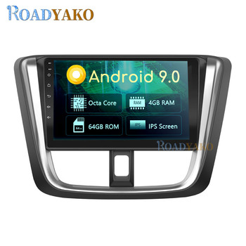 10.1'' Android Car Radio For TOYOTA VIOS YARIS Seda 2016-2019 Stereo Car panel Navigation GPS магнитола player Autoradio 2 Din image