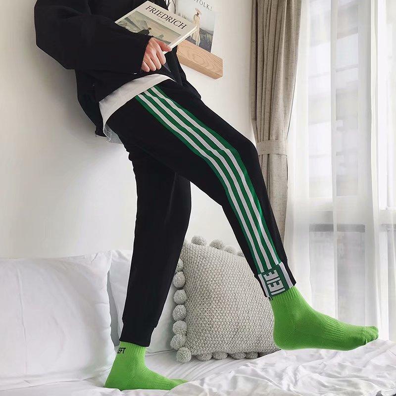 Autumn Pants Men's Trend Athletic Pants MEN'S Casual Pants Slim Fit Bib Overall Youth Beam Leg Harem Pants Men's