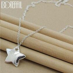 Doteffle-collier en argent Sterling 925 pour femmes, pendentif étoile, bijou à la mode, chaîne de 18 pouces, offre spéciale