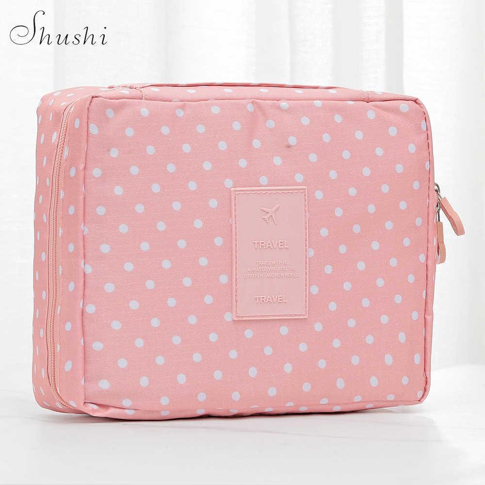 Shushi 高品質旅行必需メイクアップトイレタリー洗浄バッグ防水ハンドバッグ女性の浴室ポータブル化粧品袋