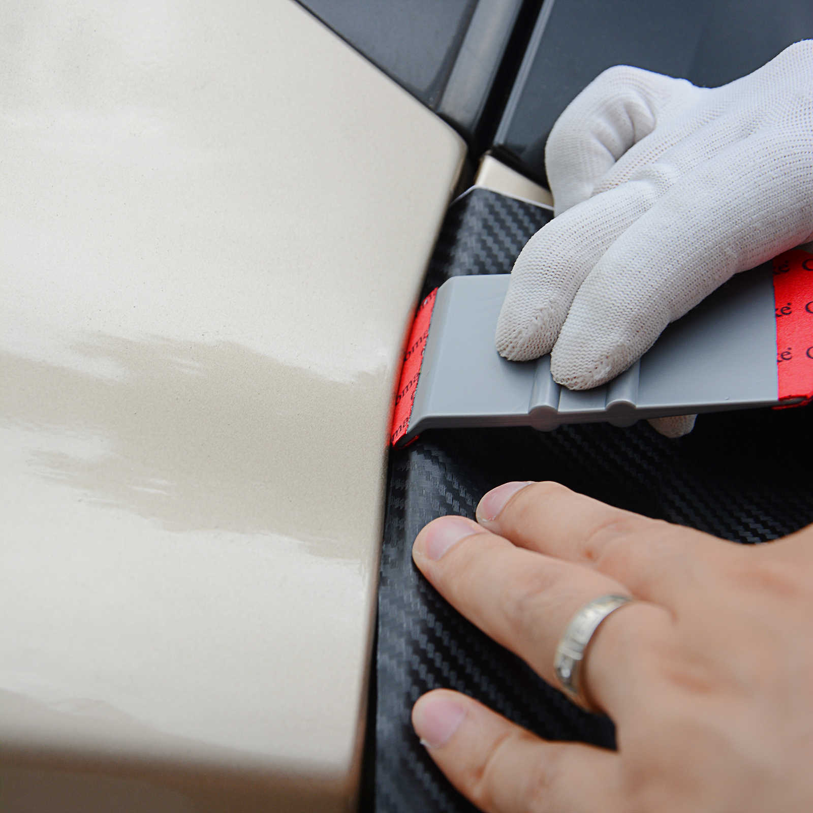 Foshio vinil envoltório do carro adesivo magnético vara rodo raspador ferramentas kit filme da folha de fibra carbono carro auto embrulho acessórios