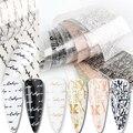 10 шт. Фольга для перевода на ногти, классный комплект с надписями на английском языке, наклейки для дизайна ногтей надписи и с принтом алфави...
