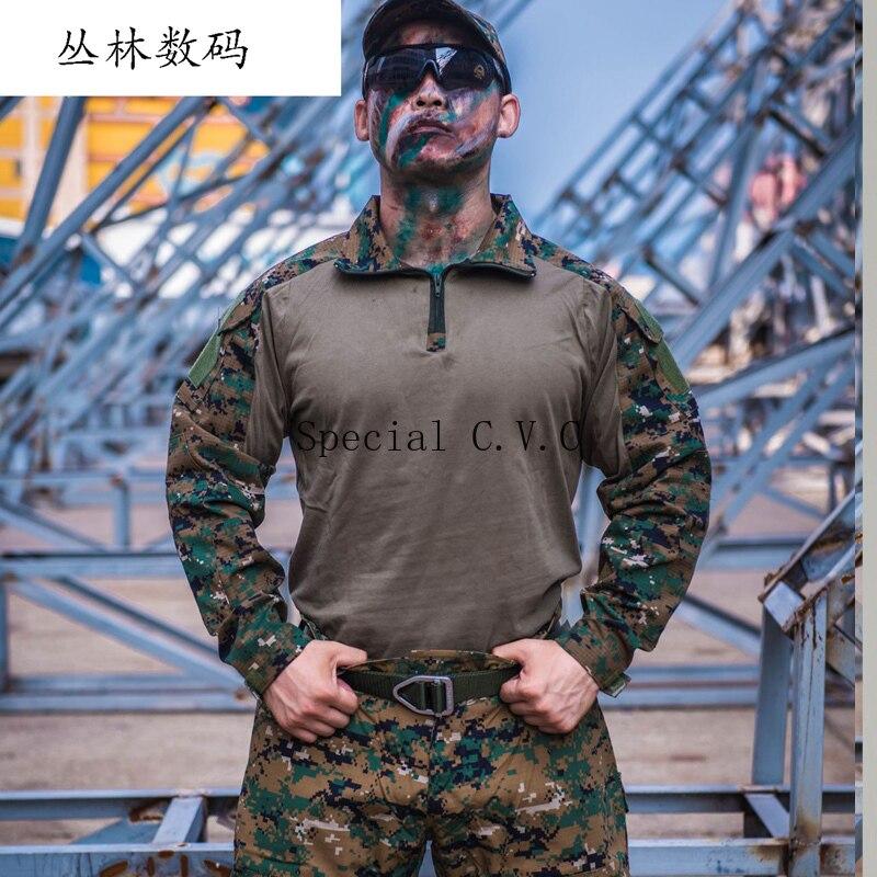 Roupas de Camuflagem tático Uniforme Militar Terno Homens Do Exército DOS EUA Roupas Shirt + Calças de Carga Combate Militar - 5