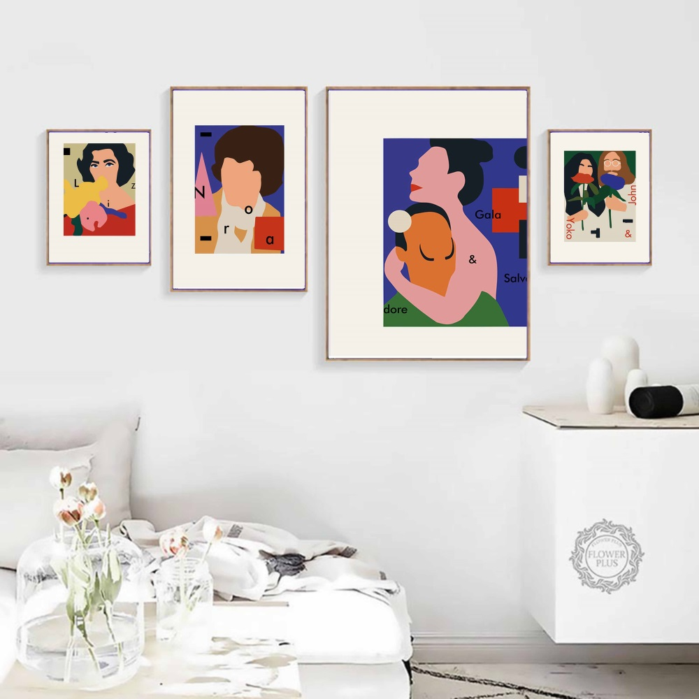 Fashion Funny Figure John Yoko Posters and Prints Canvas Painting Wall Picture for Living Room Cuadros Home Decoration Salon in Painting Calligraphy from Home Garden