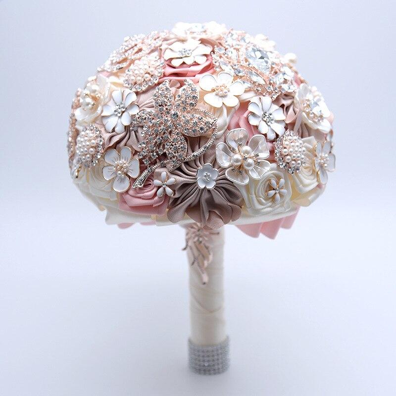19CM Rose Wedding Artificial Flower Bouquet Silk Luxury Holding Fake Flowers Valentine's Day Home Decoration Accessories Gift - 6