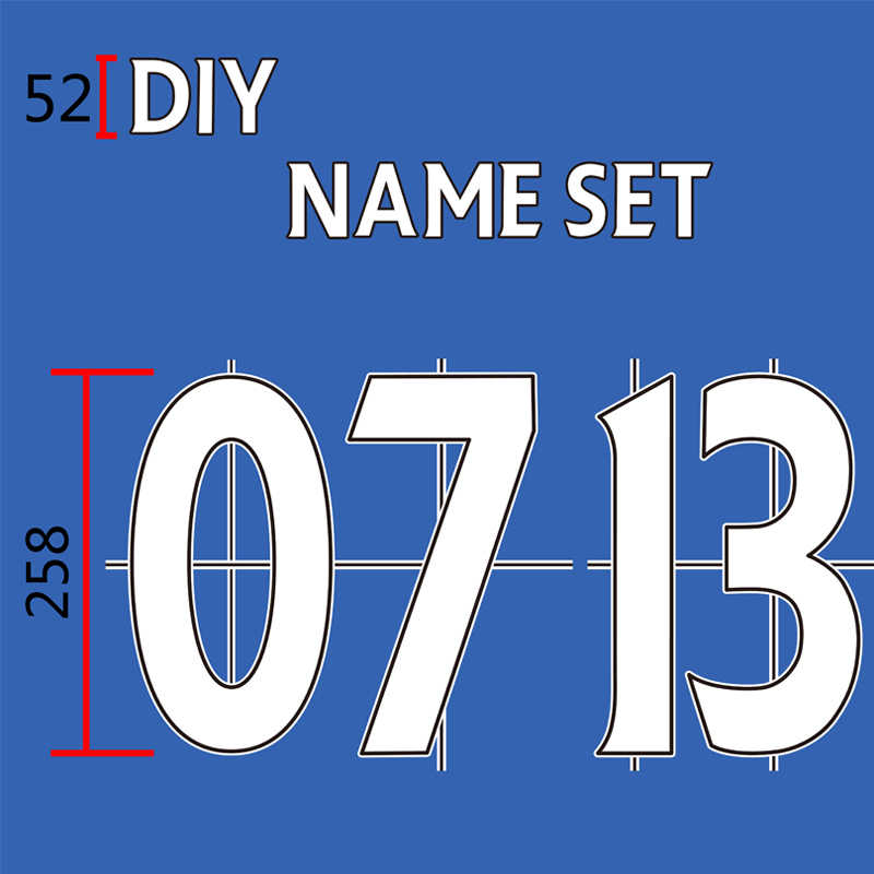 Flock Nameset Brief Nummer Diy Fluwelen Nameset