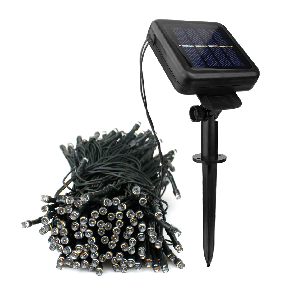 8 Modes LED Outdoor Solar Lamp String Lights 50/100/200 LEDs Solar Fairy Lights Holiday Christmas Party Garland Garden Lighting