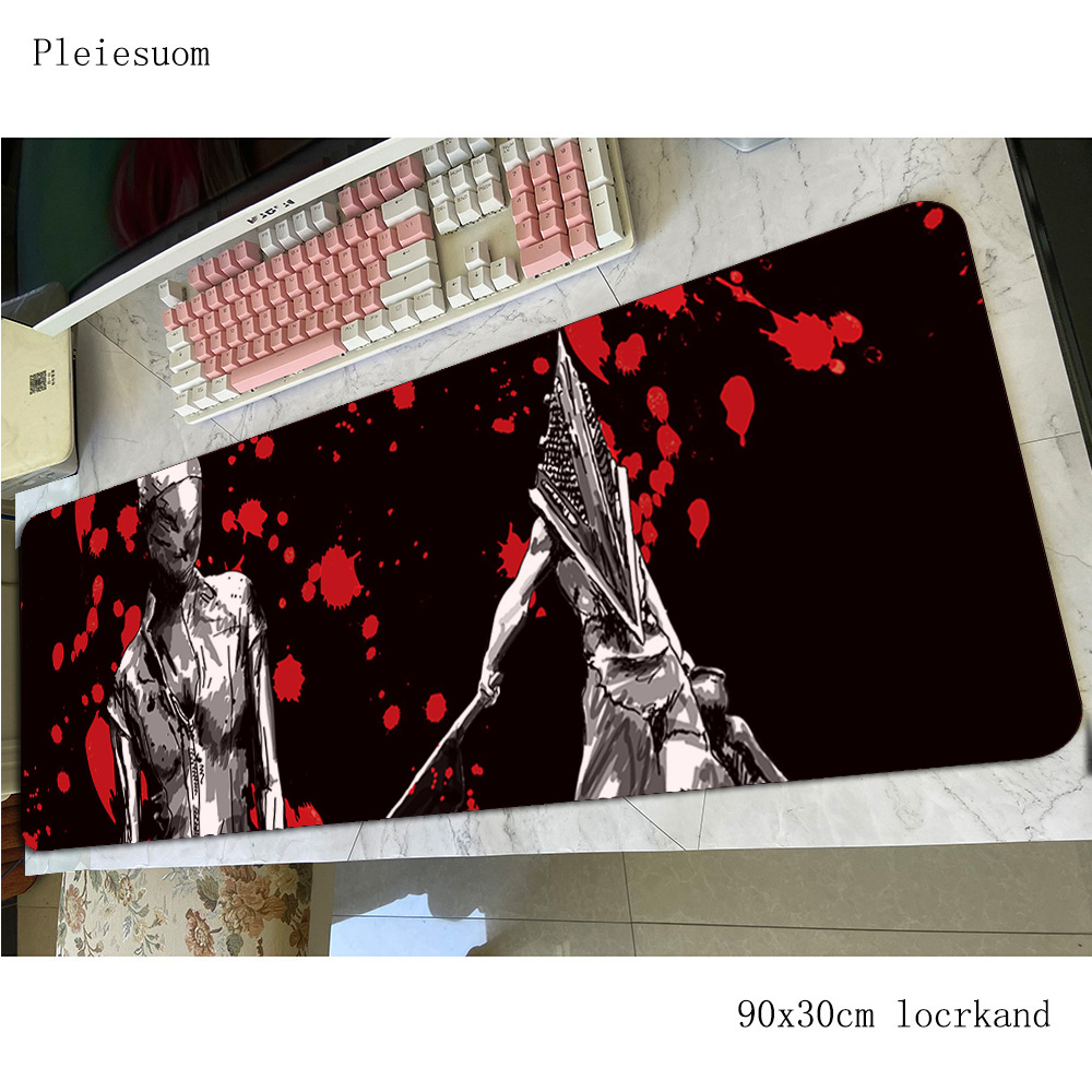 silent hill padmouse 800x300mm gaming mousepad game HD pattern large mouse pad gamer computer desk cool new mat notbook mousemat image