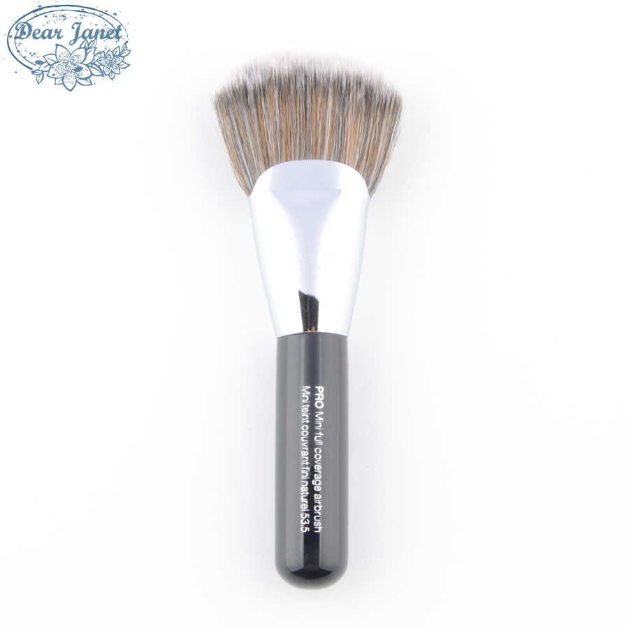 S #53.5 Kuas Makeup Bedak Pro Mini Cakupan Penuh Airbrush Sikat Kontur Fan Kualitas Tinggi Rambut Sintetis kosmetik