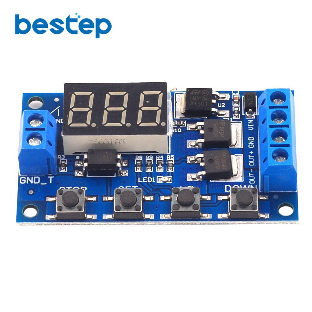 DC <font><b>12V</b></font> 24V Dual MOS <font><b>LED</b></font> Digital Time Delay Relay Trigger Cycle Timer Delay Switch <font><b>Circuit</b></font> <font><b>Board</b></font> Timing Control Module DIY image
