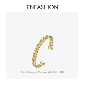 Image 5 - ENFASHION Punk Link Chain Cuff Bracelets Bangles For Women Accessories Gold Color Bracelet Bangle Fashion Jewelry Gifts B192018