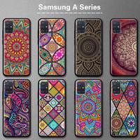 Mandala de La Flor tótem caso de teléfono para Samsung Galaxy A52 A51 A50 A72 A71 A70 A41 A40 A32 5G A31 A30 A21 A20s A10e cubierta Coque