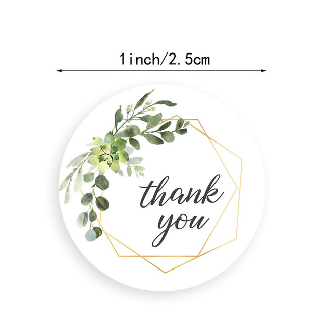 Meifyomng 500pcs Thank You Sticker Labels 8 Types Round Self Adhesive Seal Labels For Bakeries Handmade Goods Gift Bags And Small Business Owner Stationery Office Supplies All Purpose Labels
