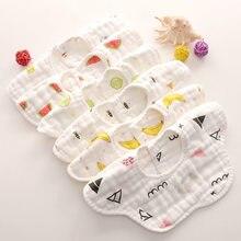 Babadores de flor do bebê 360 graus rotação 8 camadas gaze crianças bandana burp pano macio recém-nascido infantil saliva toalha de alimentação do bebê material
