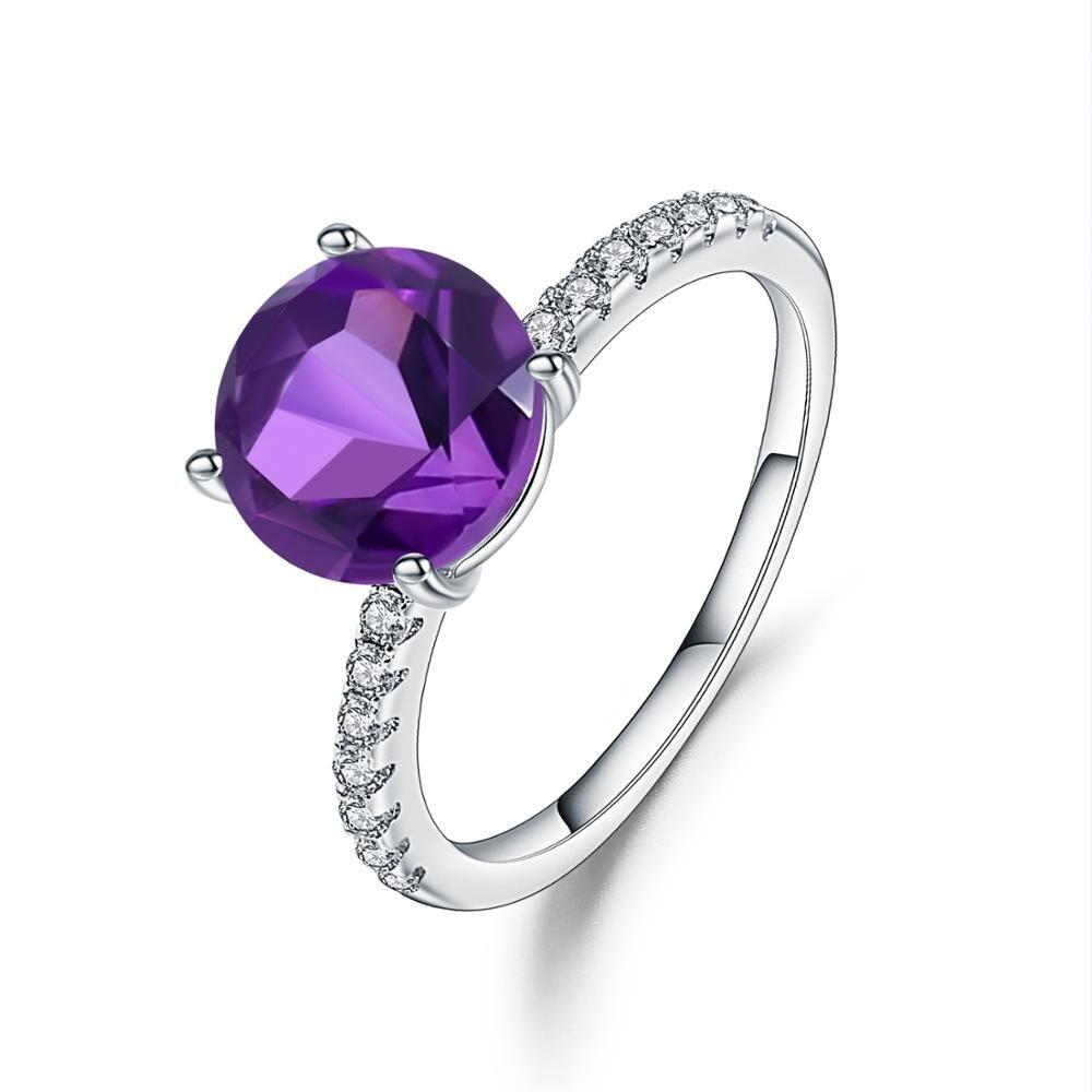 Gem's Ballet Purple Vintage Wedding Rings For Women Fine Jewelry 2.66Ct Natural Amethyst Gemstone Ring 925 Sterling Silver