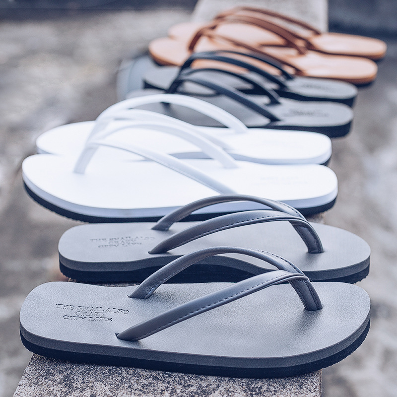 2019 Summer New Men's Slippers Non-slip Personality Pinch Sandals And Slippers Outdoor Casual Beach Shoes Men's Flip-flops