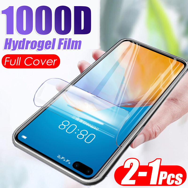 2Pcs 1000D Soft Hydrogel Film For Huawei P40 Lite E P30 Pro P20 Screen Cover Protector Mate 30 20 Full Protective Film No Glass(China)