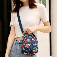 New Exquisite Colorful Printing Young Girls Shoulder Bag Practical Travel Portable Bag Fashion Mini Women Crossbody Bag(China)