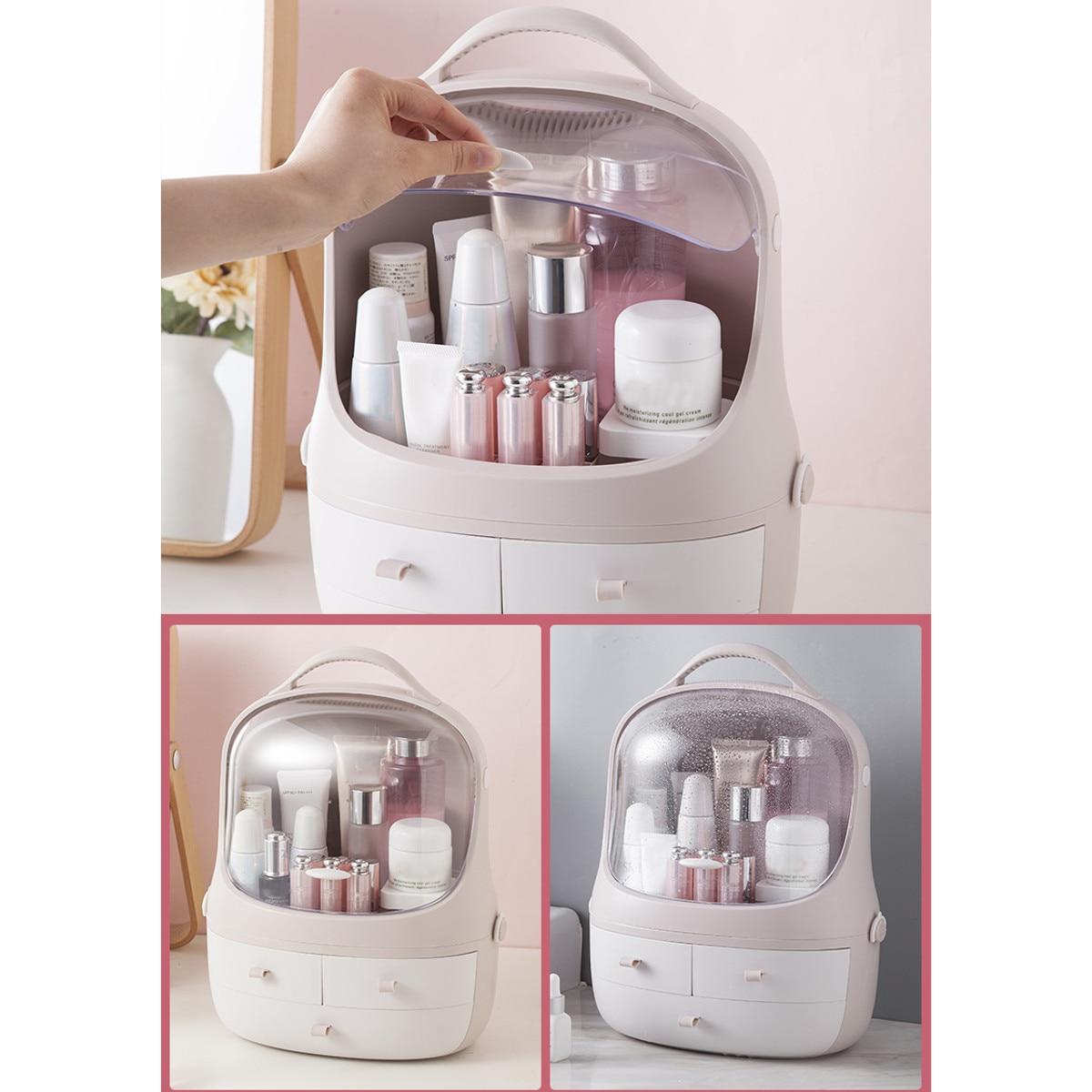 15 Inch Large Capacity Cosmetic Storage Box Makeup Drawer Organizer Jewelry Nail Polish Makeup Container Desktop Storage Box