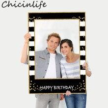 Chicinlife 1 шт. Фотофон с днем рождения реквизит для детской фотосессии для взрослых на день рождения реквизит для фотосессии юбилейные принадл...