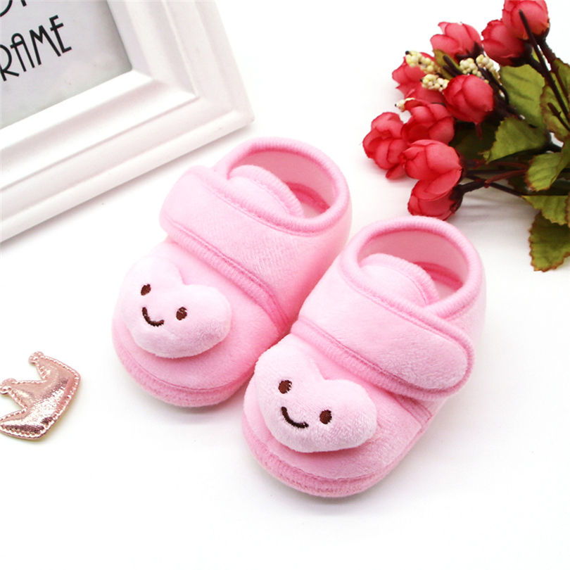 Toddler Shoes Infant Newborns Baby Girls Plush Stars Cloud Winter Boots Soft Sole Warm Shoes First Walking Footwear 0-18M A20