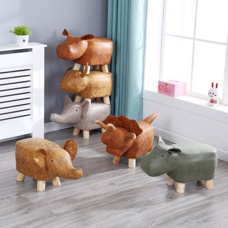 Children Dwarf Stool Creativity  Animal Stool  Elephant  Cartoon Sofa In Shoes Stool  Kids Furniture  Kids Stool