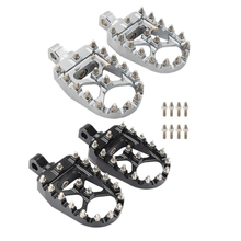 MX Foot Pegs Motorcycle Wide Fat Footpegs Bobber 360 Roating Rear Footrests For Harley Dyna Fatboy Sportster Iron 883 Street Bob