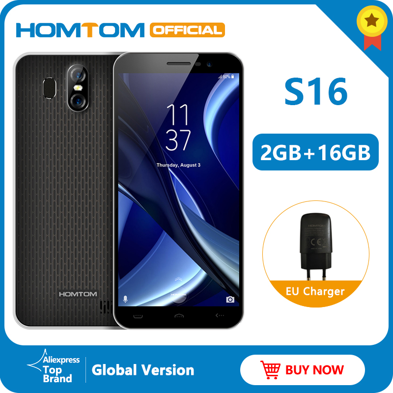 Global Version HOMTOM S16 Fingerprint Mobile Phone Android 5.5