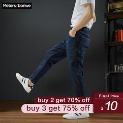 Metersbonwe Straight Jeans Mannen Lente Herfst Nieuwe Casual Jeugd Trend Slanke Jeans Mannen Broek Mannen Broek