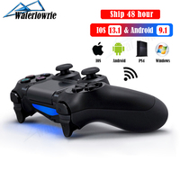 PS4 プロ用/pc/iphone & android 携帯電話、ワイヤレス bluetooth ゲームパッドプレイステーション 4 デュアルショックコンソール