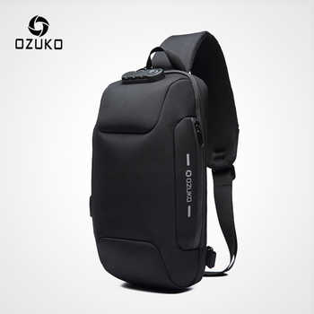 OZUKO 2019 New Multifunction Crossbody Bag for Men Anti-theft Shoulder Messenger Bags Male Waterproof Short Trip Chest Bag Pack - DISCOUNT ITEM  49% OFF All Category