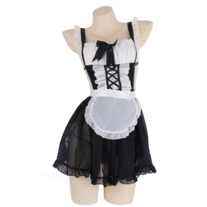 Image 5 - OJBK Sexy Lingerie Cosplay Erotic Apron Japanese Maid Sex Costume Babydoll  Women Lace Miniskirt Outfit Sweet Lolita Anime Dress