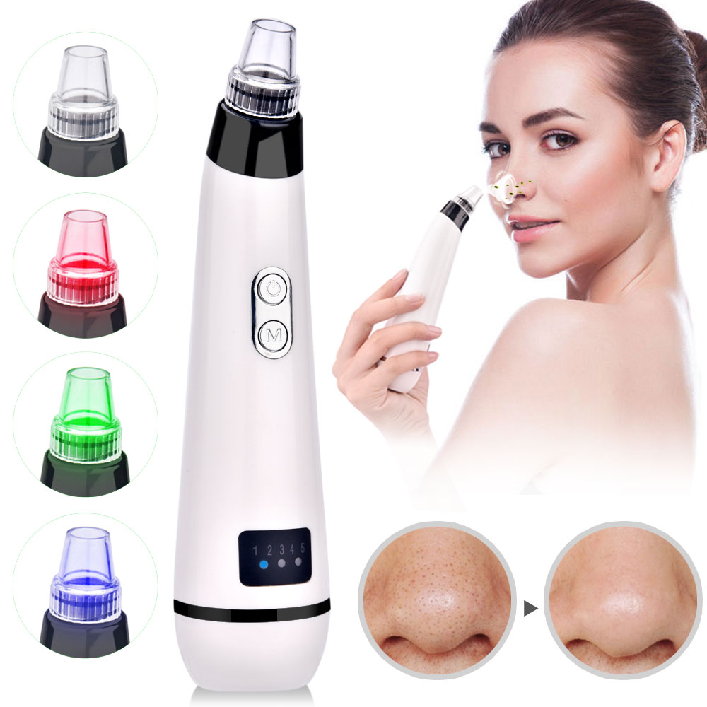 Removal Blackhead Face Clean Pore Vacuum Acne Pimple Vacuum Remover Suction Facial Diamond Dermabrasion Tool Machine Skin Care