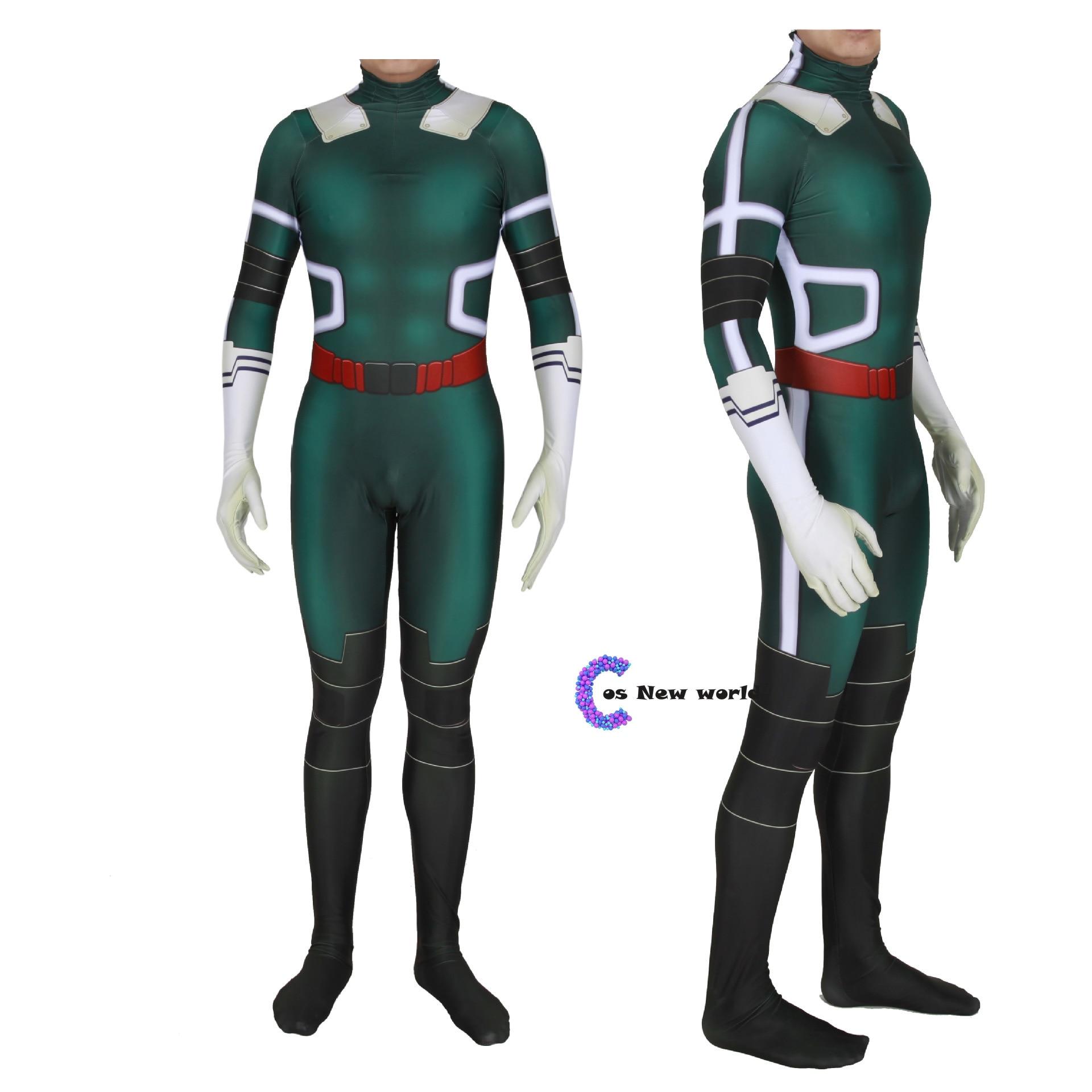 2020 New My Hero Academia Midoriya Izuko Deku Cosplay Costumes Men Women Girls Zentai Suit Halloween Bodysuit for Kids Adult